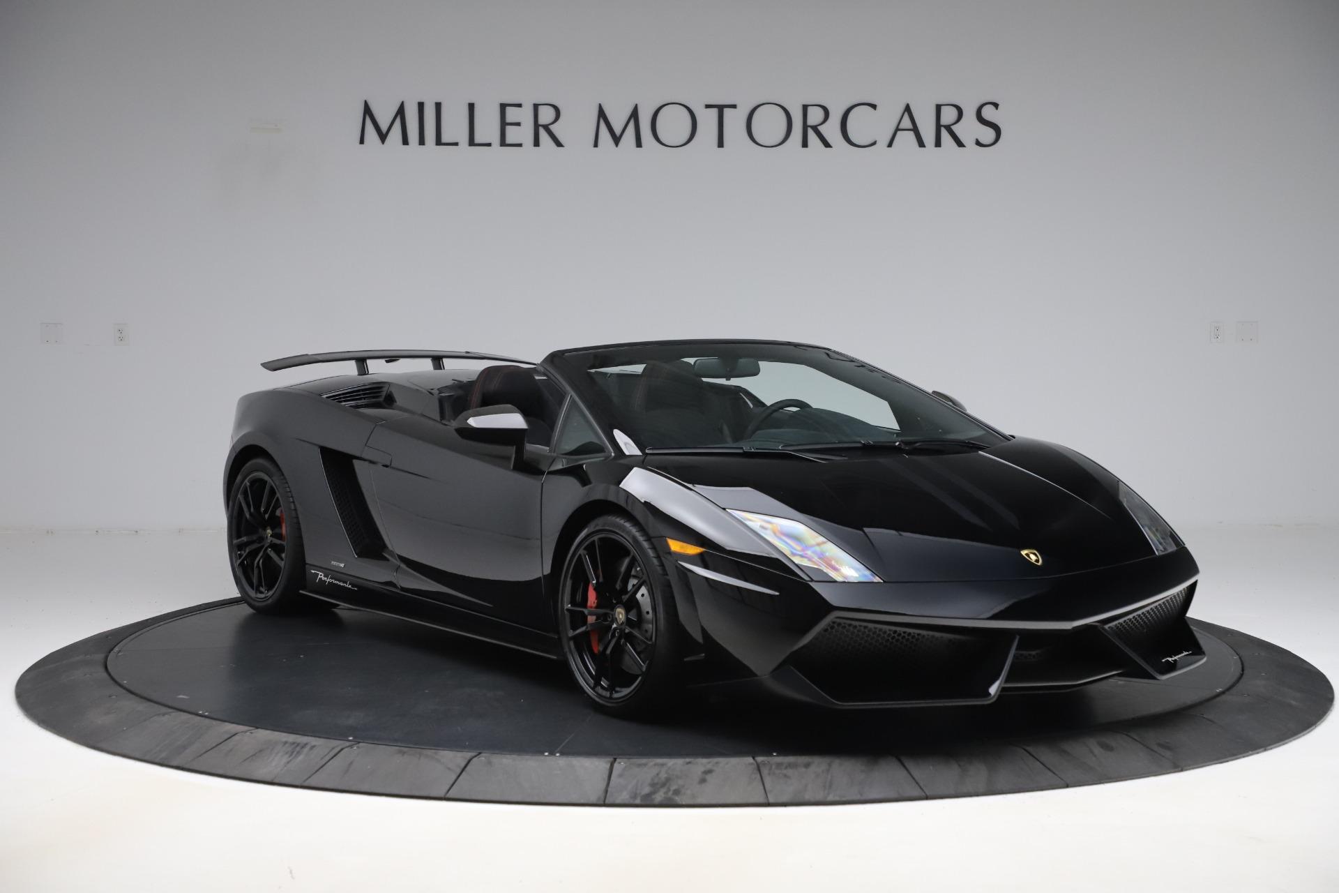 Pre Owned 2013 Lamborghini Gallardo Lp 570 4 Spyder Performante For Sale Miller Motorcars Stock 7760c